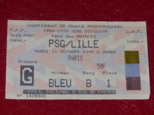 Collezione-Sport-Calcio-Ticket-Psg-Lille-11-Ottobre-1994-Champ-Francia