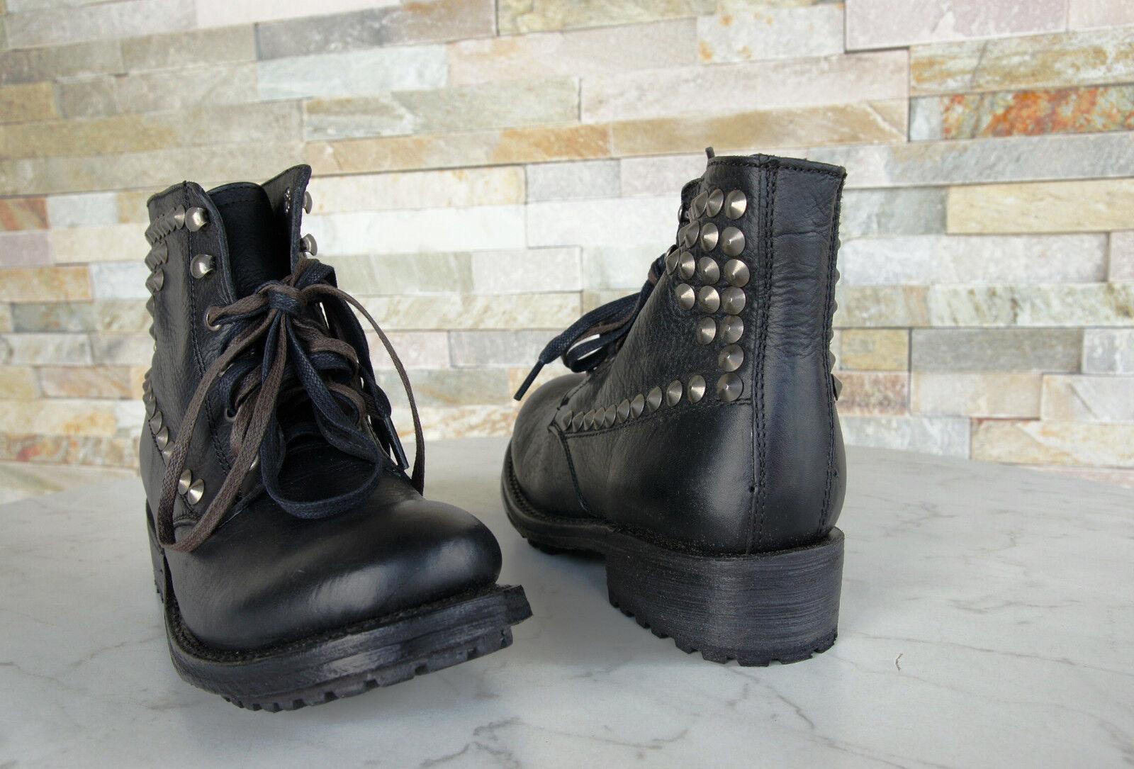 Ash Gr 37,5 Stiefel Trick Schnürstiefel Stiefel Schuhe Vintage Trick Stiefel schwarz neu b80ebf