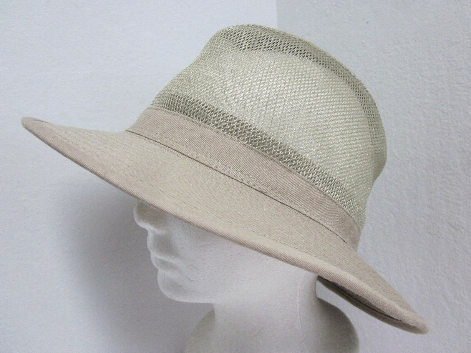New Medium Scala Cotton - Canvas Breezer Hat - Crushable - Cotton Beige 543c58