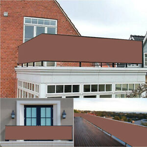 Privacy-Screen-for-Backyard-Deck-Patio-Balcony-Fence-Porch-Sun-Shade-Mesh-Brown