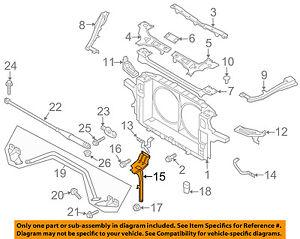 NISSAN OEM 370Z Radiator Core Support-Center Hood Lock Latch Support  625501EA0A   eBayeBay