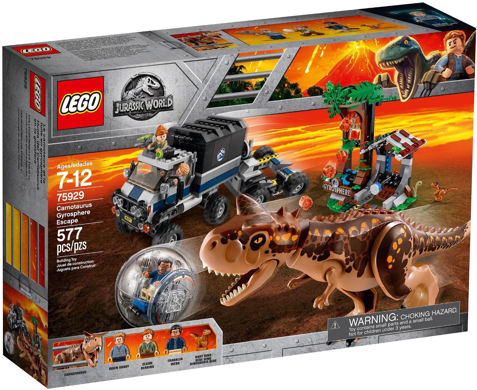 LEGO Jurassic World - 75929 Carnotaurus Flucht in der Gyrosphere - Neu & OVP