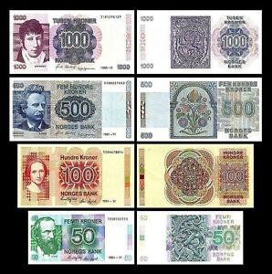 Norway-2x-50-100-200-1-000-kroner-Edition-1983-1998-reproduction-01