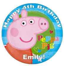 Peppa Pig Personalised Cake Topper Edible Wafer Paper 7.5""