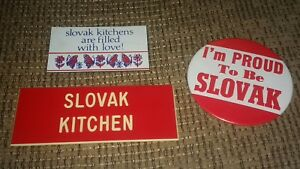 Czeko-Slovak Republic Czechoslovakia Country Pin Pinback Button & magnet lot