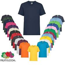 5 Pack Mens Fruit Of The Loom 100% Cotton Plain Tee shirts T-shirt Plain Top