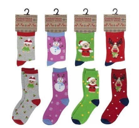 Kids Novelty Festive Xmas Christmas Gift Socks Size 9//12