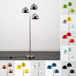 Modern-3-Arm-Designer-Arco-Style-Arc-Base-Floor-Standing-Lamp-Light-Chrome-NEW