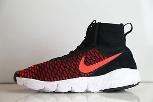 brand new b6ff8 f288e Image is loading Nike-Air-Footscape-Magista-Flyknit-Black-Gym-Red-