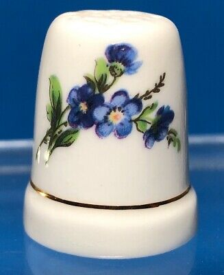 Porcelain China Collectable Thimble Flower of the Month November