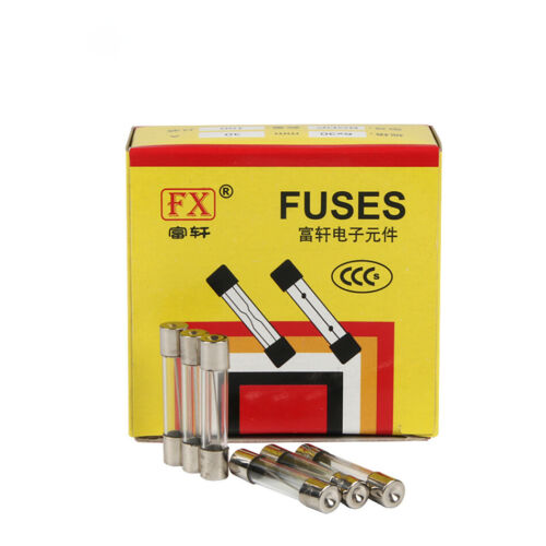 5*20mm 0.2//0.5//1//2//3//4//5//6////8//10//15//20A 250V Glass Fuse Fast Quick Blow