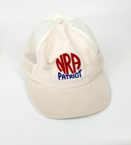 NRA Patriot Trucker Mesh Hat White Snapback Snap B