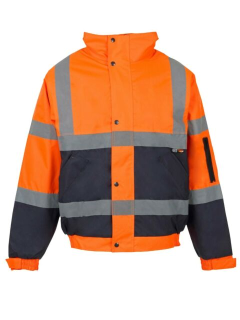 Portwest Hi-Vis Safety Workwear Two-Tone Zipped Hoodie Zipped Top