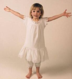 fefb91a3a8 Details about Baby Girl White Dress and Bloomer Vintage-Style Organic  Cotton Lace Gift Set