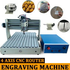 New Listing4 Axis Cnc 3040t Router Engraving Woodworking Engraver Milling Drilling Machine
