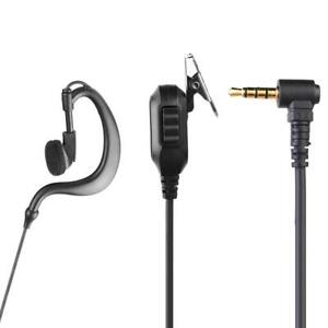 BW-A-1x-3-5mm-1Pin-Earphone-Earpiece-with-PTT-Mic-for-Motorola-ICOM-YAESU-Radio