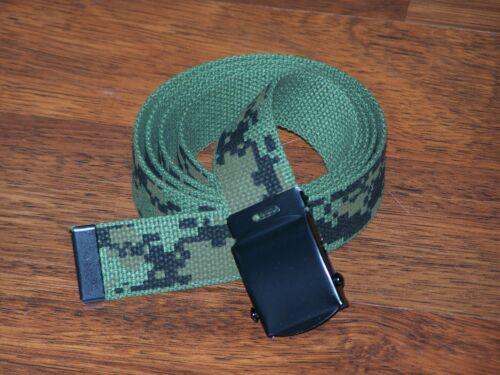 Belt Web Fashion Sport Army Navy Camo Style Buckle Jeans School Phone Reversible