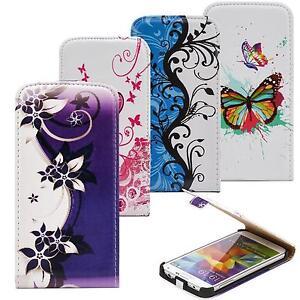 Handy-Tasche-fur-Samsung-Galaxy-Schutz-Hulle-Motiv-Flip-Cover-Case-Klapp-Tasche