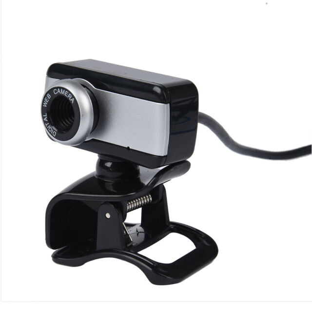 USB Webcam Web Cam Camera with MIC CD for Desktop PC Laptop Black U8Y3