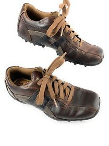 9daea633e0be Skechers Talus Burk SN 63384 Brown Leather Lace Up Oxford Shoes ...