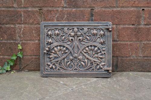 31.7 cm x 24.5 cm cast iron fire door clay//bread oven door//pizza smoke house