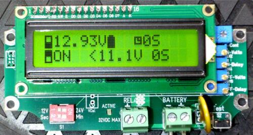 """1224-B 12V//24V relais tension déclenché Charge Contrôleur /""""avec retard/"""" LVD HVD 1 urvtlc"""