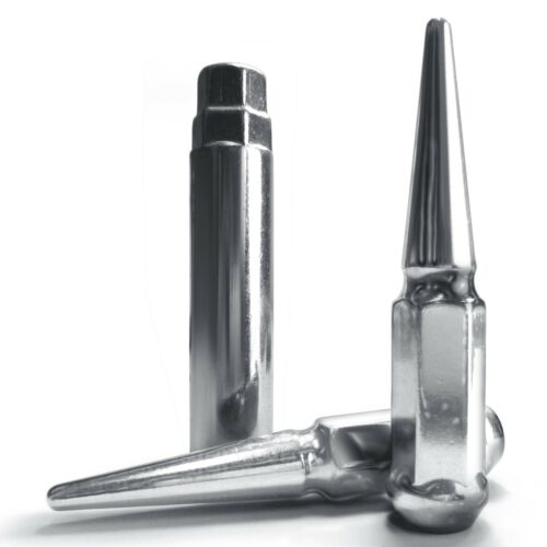 32 Pieces 14x2.0mm RH Extended Spike Lug Nut Chrome w// Socket Key for Expedition