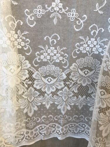 Victorian Design Cream  Lace Curtain Panelling Period design 88cms To Finish