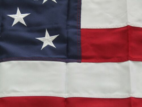 5x8 Embroidered Sewn USA US American 600D Nylon Flag 5/'x8/' Grommets