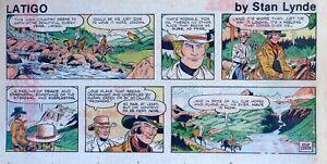 Latigo-by-Stan-Lynde-Western-comic-scarce-color-Sunday-page-July-26-1981