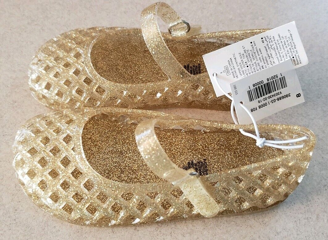 6-12 MONTHS Clear Sparkle Jelly Sandals #10219 Old Navy Toddler Girls SIZE 3