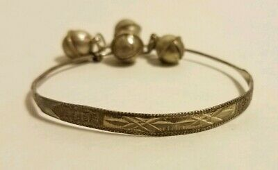 Vintage Bells Bangle Bracelet 925 Sterling BR 1874-E