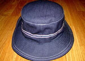 Kangol Men/'s Denim Stitch Bucket Hat Indigo X-Large New
