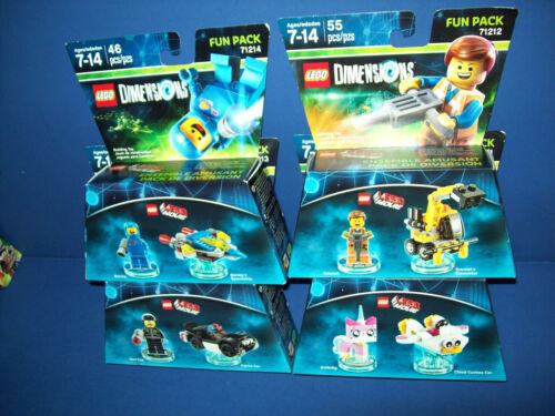 LEGO MOVIE 4 DIMENSIONS LOT 71212 71214 71231 71213 EMMET BAD COP UNIKITTY BENNY