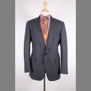 Polo Ralph Lauren 40R Gray Solid Wool Two Button Mens Sport Coat Blazer Jacket
