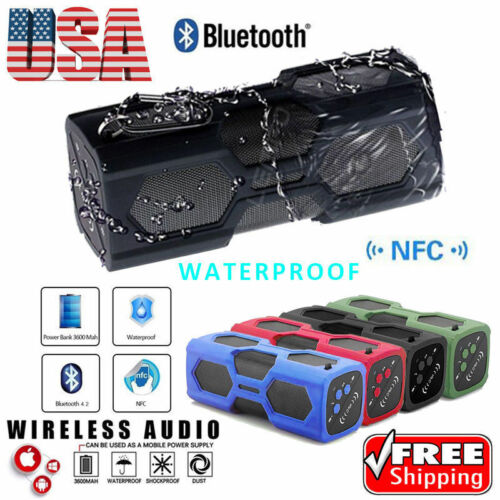 Portable Wireless Bluetooth Speaker Stereo Loud Super Bass Sound Aux USB TF FM