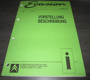 Werkstatthandbuch-Citroen-Evasion-Vorstellung-Klima-Lenkung-Bremsen-Achse-11-94