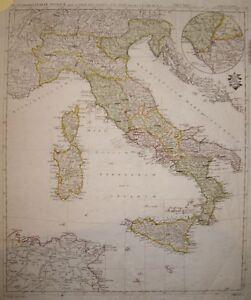 Cartina Italia 1810.1810 Italia Sicilia Sardegna Rara Carta Geografica Map Ebay