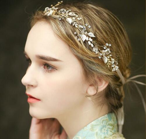 Crystal Hair Halo Diamante Wedding Hair Vine Blossom Bridal Dress Accessories