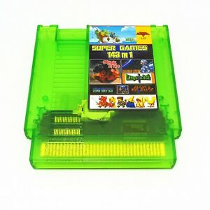 Super-Games-143-in-1-Nintendo-NES-Cartridge-Multicart-TRANSPARENT-GREEN