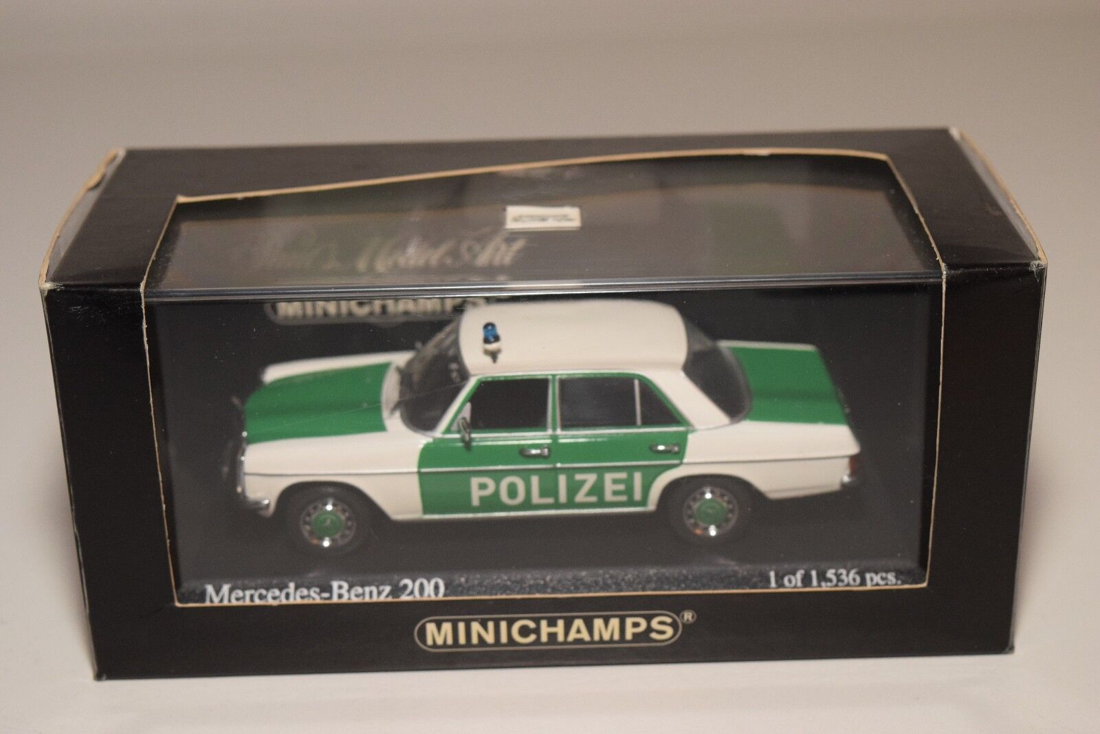 F MINICHAMPS MINICHAMPS MINICHAMPS MERCEDES-BENZ 200 POLIZEI GERMAN POLICE MINT BOXED 3be058