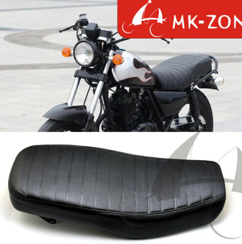 Waterproof Vintage Leather Cafe Racer Seat Flat Long cushion for Suzuki GN125