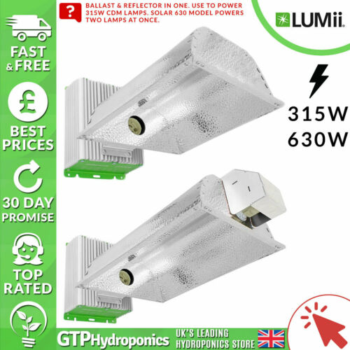 630w Ballast /& Reflector Grow Light in One Hydroponics Lumii Solar 315w