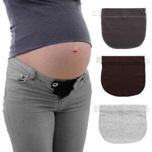 Maternity-pregnancy-belt-adjustable-elastic-waist-extender-clothing-pants-a-JT