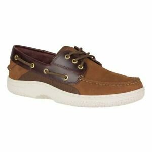 Sperry-Top-Sider-Billfish-3-Eye-Men-039-s-Brown-Buck-Brown-Boat-Shoe-9M-NEW-with-Box