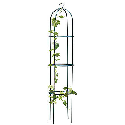 1.9M Outdoor Garden Green Metal Obelisk Climbing Plant Support Frame Ivy Trellis