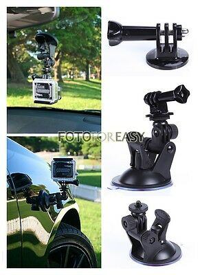 Suction Cup Bracket+Tripod Mount Adapter+Handle Screw for GoPro Hero HD 1 2 3 3+