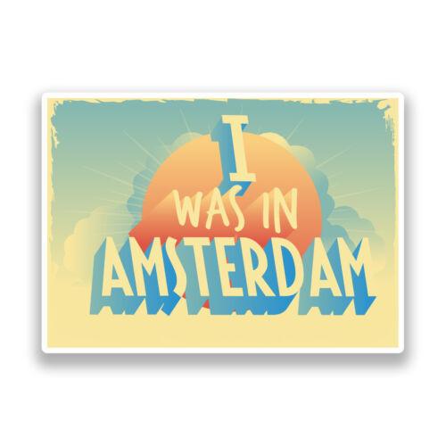 2 X que estaba en Amsterdam Vintage Pegatinas de Vinilo Viaje Equipaje #7275