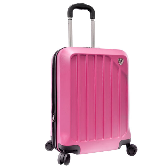 "Traveler's Choice 21"" Glacier Pink Carry-on Spinner Suitcase Travel Luggage Bag"