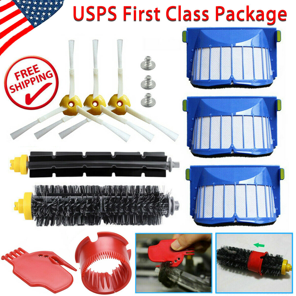 13x Replacement Accessories Kit for iRobot Roomba 600 Series Vacuum Cleaner P2G1